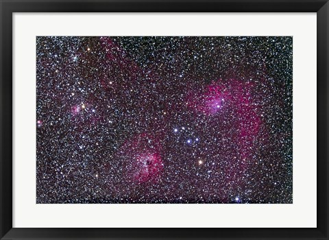 Framed Area of Flaming Star Nebula and complex in Auriga Print