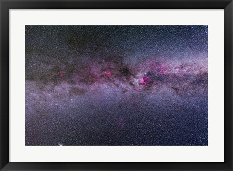 Framed northern Milky Way from Cygnus to Cassiopeia and Perseus Print