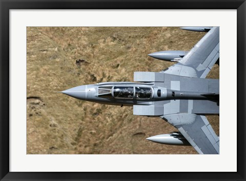 Framed Front section of a Royal Air Force Tornado GR4 during low fly training in North Wales Print