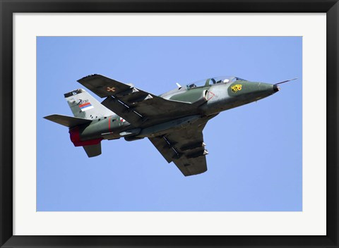 Framed Serbian Air Force Soko G-4 Super Galeb Print
