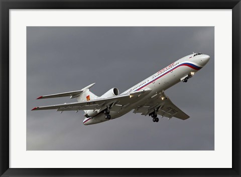 Framed Tupolev Tu-154M in flight over Bulgaria Print