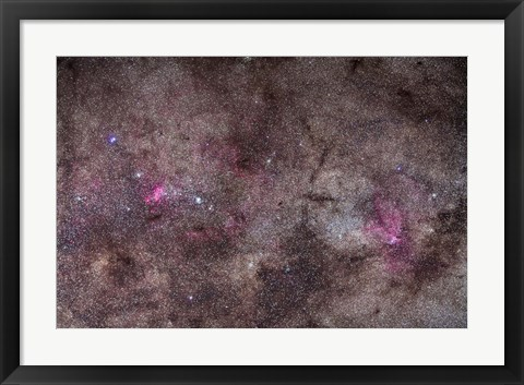 Framed False Comet area in Scorpius along with NGC 6188 nebulosity in Ara Print