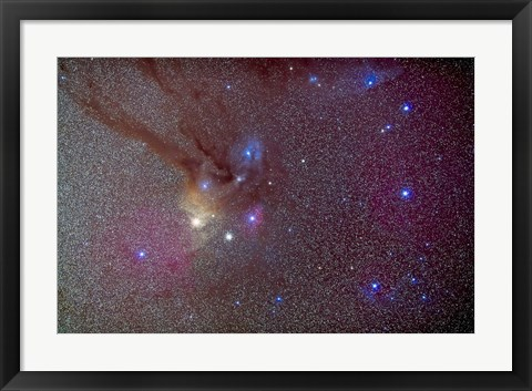 Framed Head of Scorpius with celestial deep sky objects Print