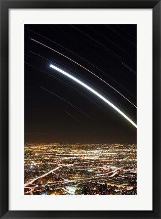 Framed Moon and Jupiter conjunction above Tehran, Iran Print