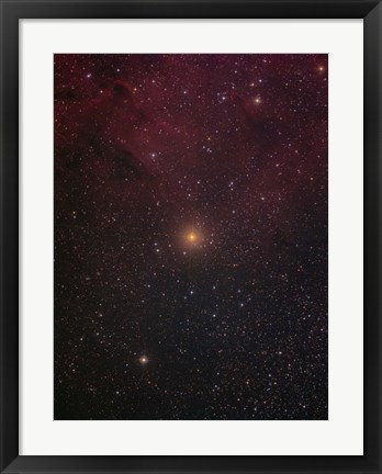 Framed Mu Cephei, a red supergiant in the constellation Cepheus Print
