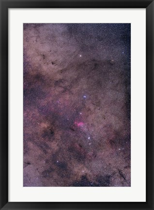 Framed NGC 6231 area oriented equatorially Print