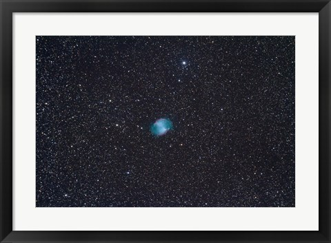 Framed Dumbbell Nebula, a planetary nebula in the constellation Vulpecula Print