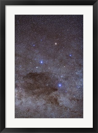 Framed Southern Cross and Coalsack Nebula in Crux Print