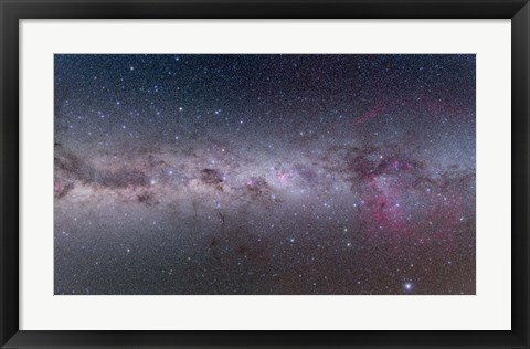 Framed Mosaic of the southern Milky Way from Vela to Centaurus Print