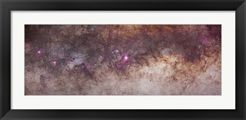 Framed Mosaic of the constellations Scorpius and Sagittarius in the southern Milky Way Print