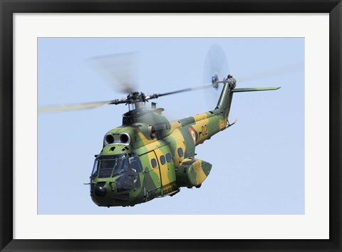 Framed Romanian Air Force IAR-330M Puma helicopter Print