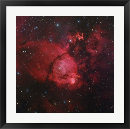 Framed NGC 896 in the Heart Nebula in Cassiopeia Print
