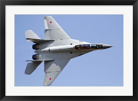 Framed MiG-29M2 performing at Aeromiting Batajnica 2012 airshow Print