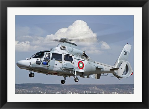Framed Eurocopter AS-565MB Panther prepares for landing Print