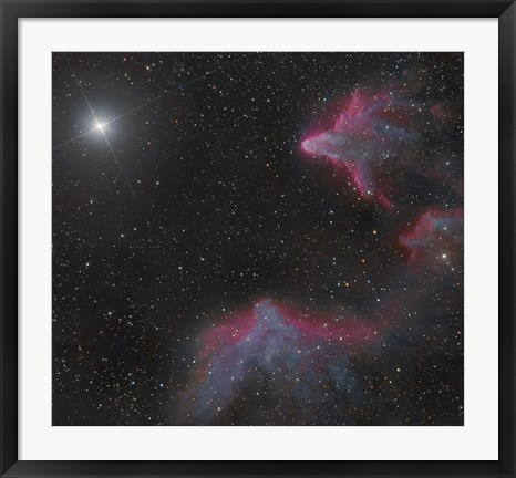 Framed IC 59 and IC 63 in Cassiopeia Print