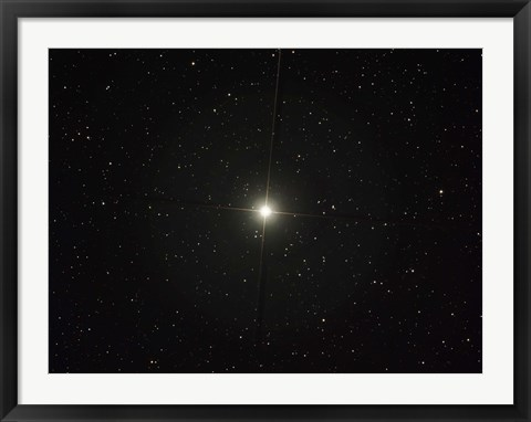 Framed Pollux is an orange giant star in the constellation of Gemini Print