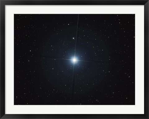 Framed Rigel is the brightest star in the constellation Orion Print