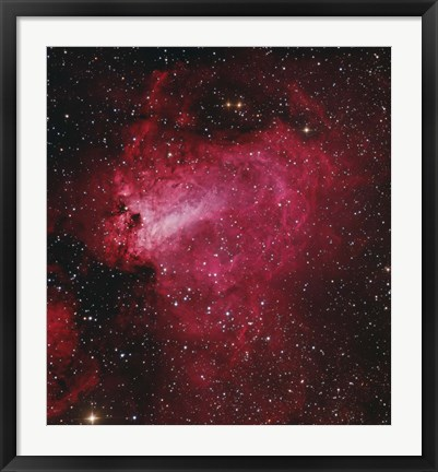 Framed Messier 17, The Swan Nebula in Sagittarius Print
