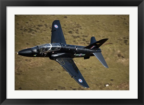 Framed Hawk jet trainer aircraft of the Royal Air Force Print