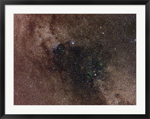 Framed Widefield view of star flux in Cygnus Print