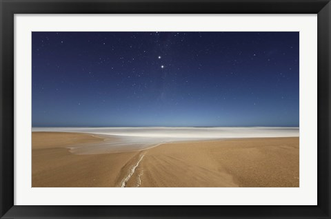 Framed Alpha and Beta Centauri seen from the beach in Miramar, Argentina Print