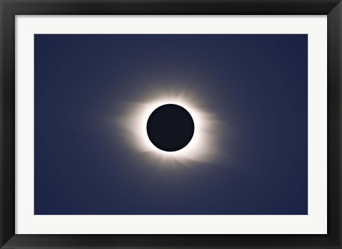 Framed Total eclipse of Sun Print