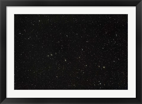 Framed Widefield view of the constellations Virgo and Coma Berenices Print
