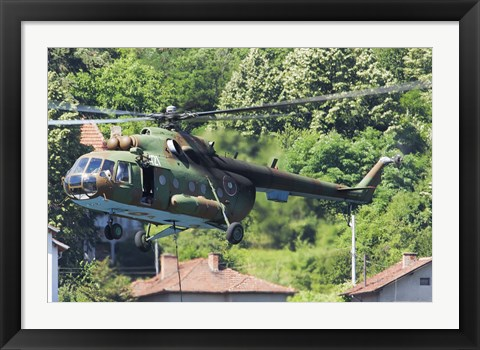 Framed Bulgarian Air Force Mi-17 helicopter, Bulgaria Print