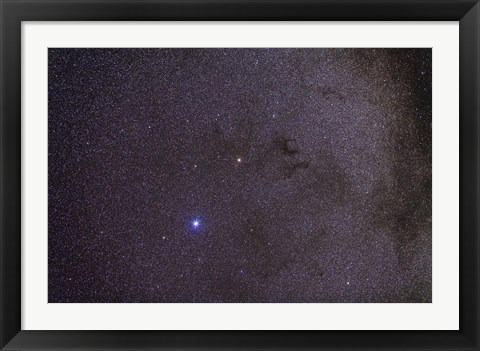 Framed Widefield view of dark nebulae in the Aquila constellation Print