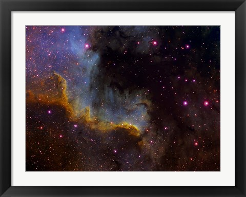 Framed Close-up view of North America nebula Print