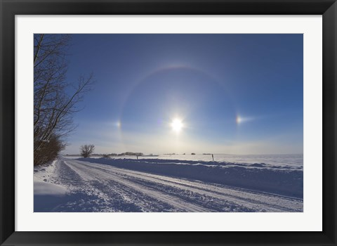 Framed Solar halo and sundogs in southern Alberta, Canada Print