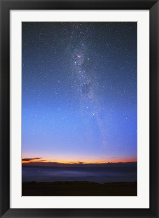Framed Eta Carina nebula and the Milky Way visible at dawn Print