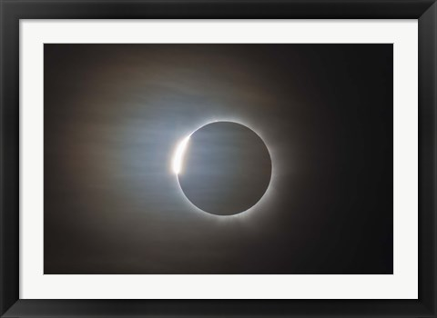 Framed second diamond ring during the total eclipse of the Sun Print