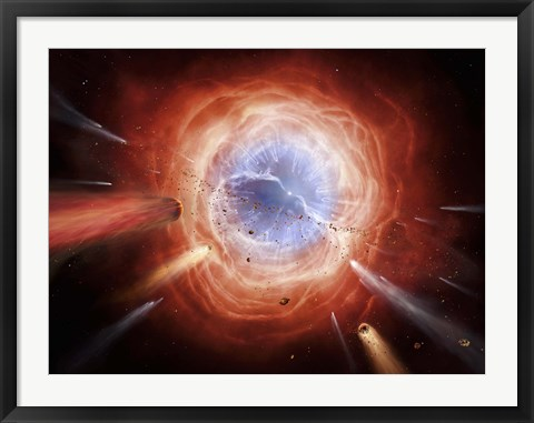 Framed planetary nebula is forming as the star expells its outer layers Print