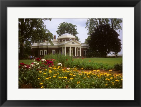 Framed Gardens at Jefferson s home at Monticello Print