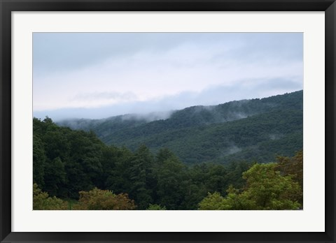 Framed Fog in the Mountains Print