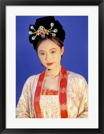 Framed Chinese Woman in Tang Dynasty Dress, China Print