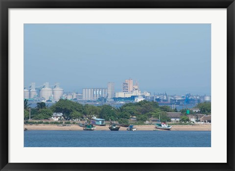 Framed Africa, Mozambique, Maputo, port area boats Print