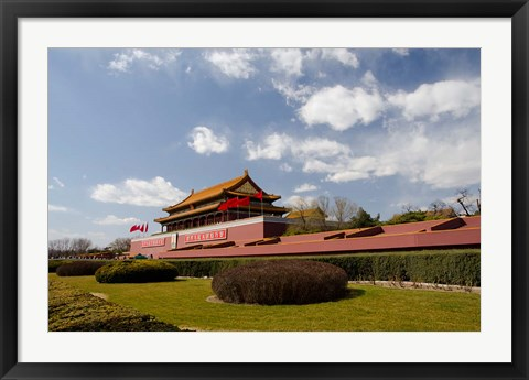 Framed Gate of Heavenly Peace, Forbidden City, Beijing, China Print