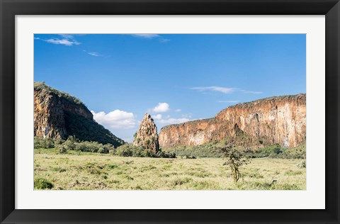 Framed Fischers Tower, Hell's Gate National Park, Kenya Print