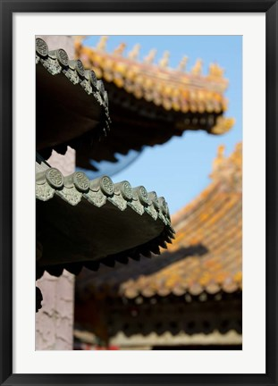 Framed China, Beijing, Forbidden City. Emperors palace, Hall of Consolation. Print