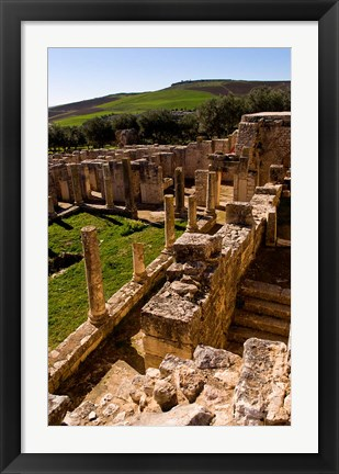Framed Ancient Architecture, Roman Brothels, Dougga, Tunisia Print