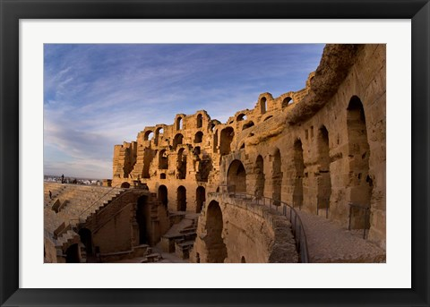 Framed Ancient Roman Amphitheater, El Jem, Tunisia Print