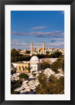 Framed Bourguiba Mausoleum and cemetery in Sousse Monastir, Tunisia, Africa Print