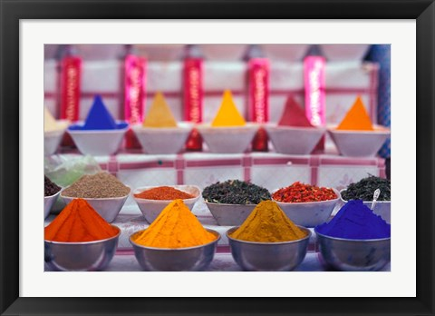 Framed Colorful Spices in the Market, Egypt Print