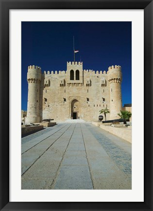 Framed Fort Qu'it Bey, Alexandria, Mediterranean Sea, Egypt Print