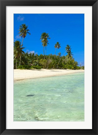 Framed Beach, Desroches Resort, Desroches Island, Seychelles Print