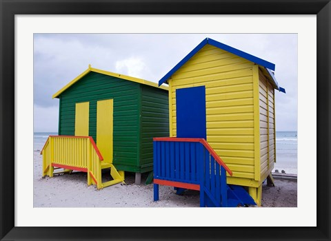 Framed Cottages near the water, Cape Town, South Africa Print