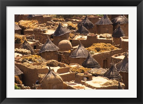 Framed Flat And Conical Roofs, Village of Songo, Dogon Country, Mali, West Africa Print