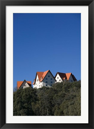 Framed Al-Akhawayn University Buildings, Alpine Resort, Ifrane, Middle Atlas, Morocco Print